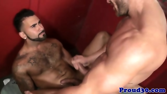 Mature jock assfucked by muscle cock
