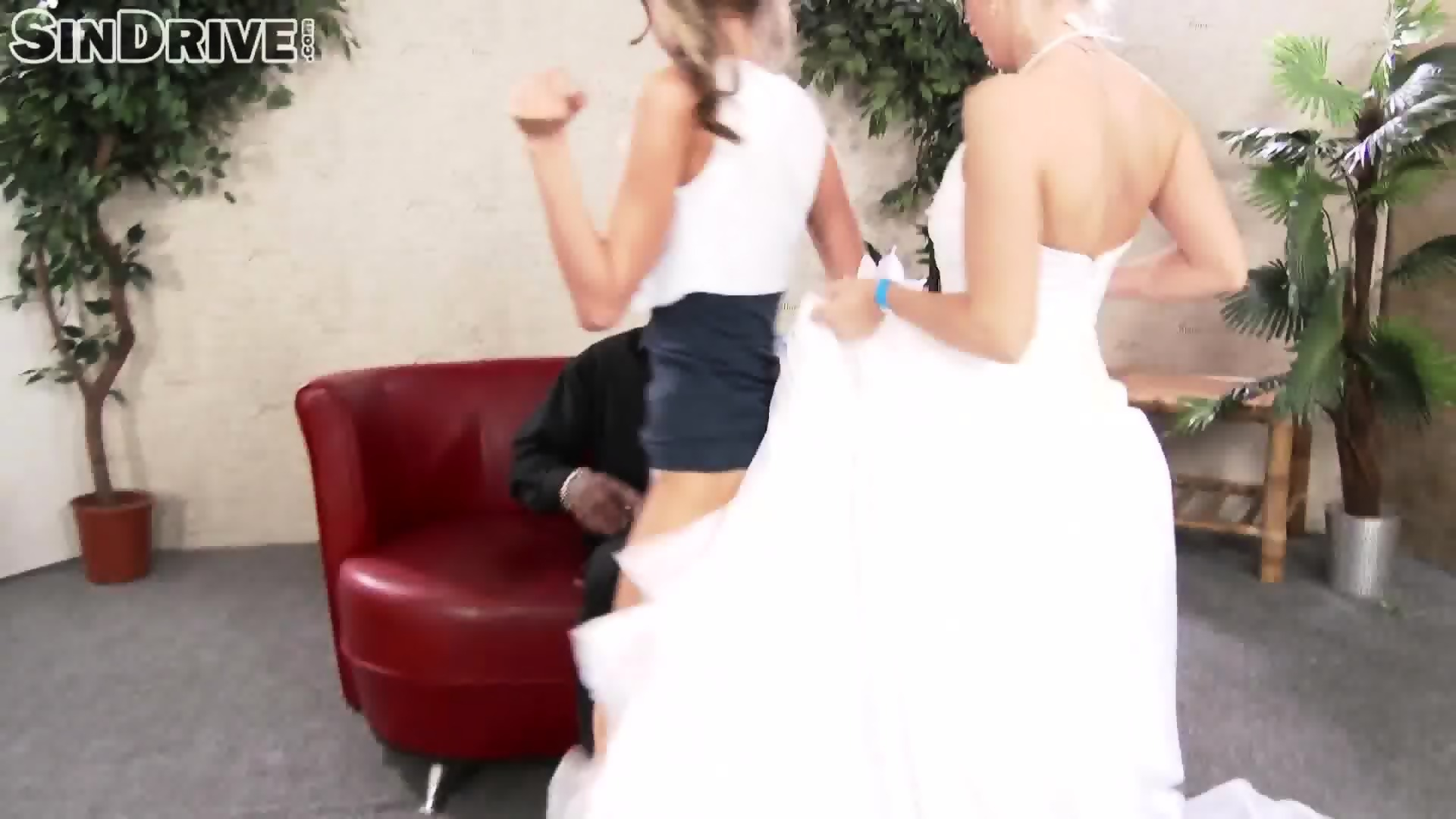 Bride And Her Friend Share Big Black Dick - scene 8