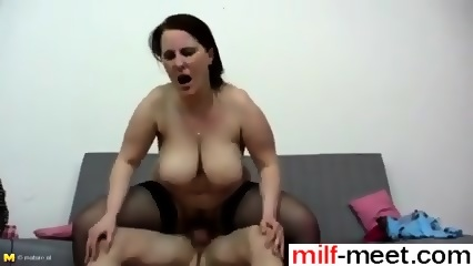 She Is From Milf Meet Com Busty And Booty Mom Fucks Not Her