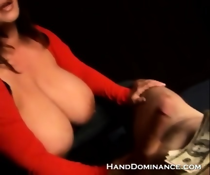 Humiliating handjob video