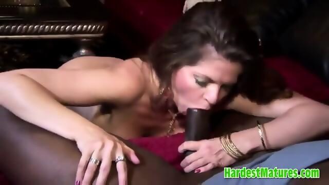 Mature brunette wife black cock