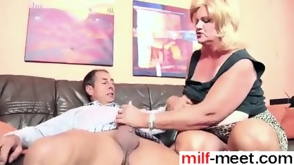 Granny fucks huge dick