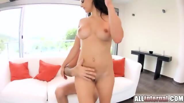 Allinternal cum filled billie star in steamy hot threesome 7