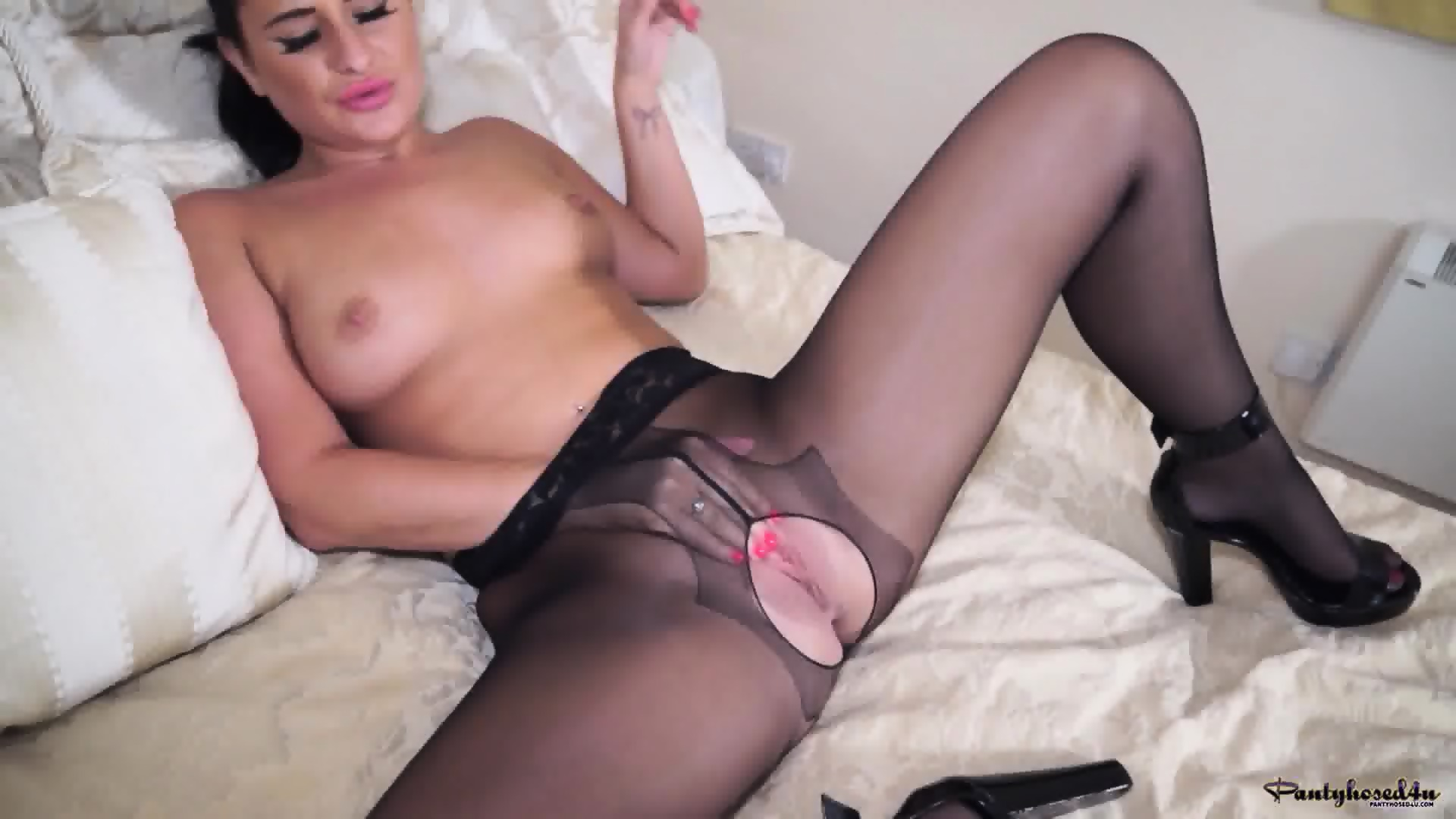 Long plastic dildo for her tighter hole