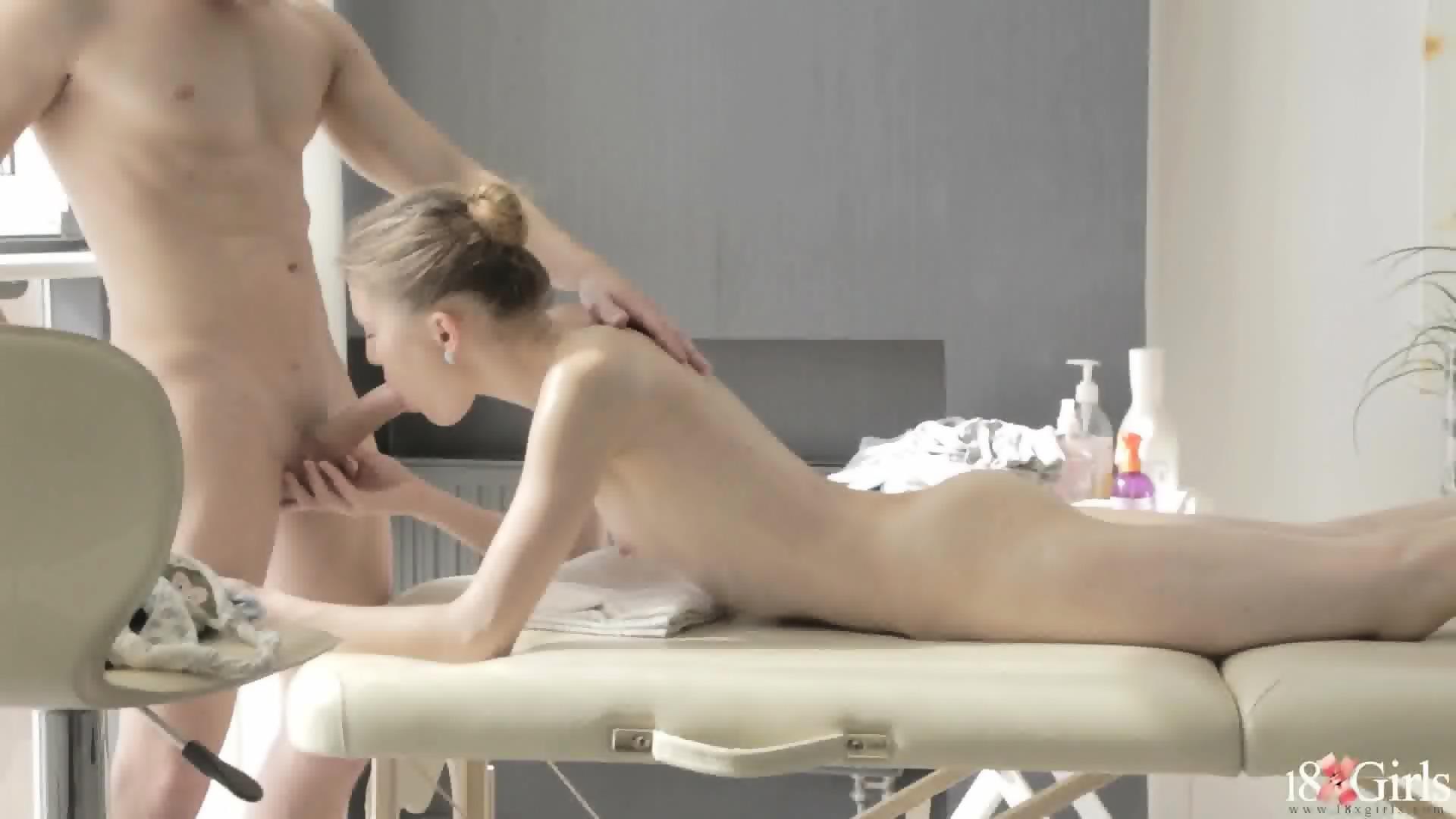 Skinny girl massage