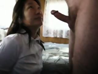 Korean wife gives blowjob on knees swallows eporner free