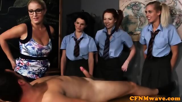 Busty office brit throating cock until facial 6