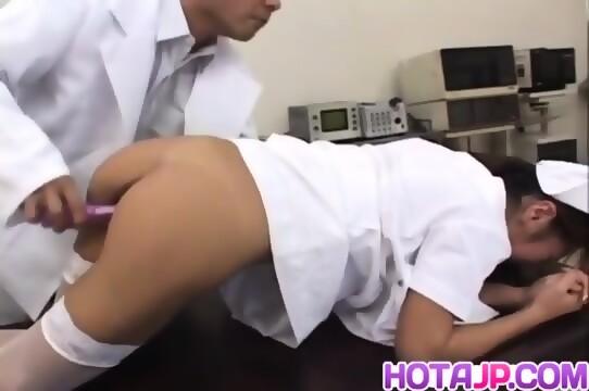 Erena fujimori sucks vibrator and rides cock 8