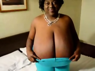 Black granny tits