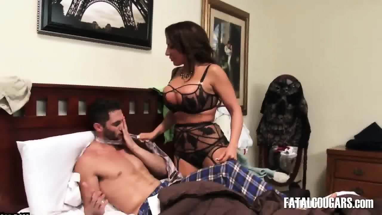image Son seduces mommy to bed on her date night