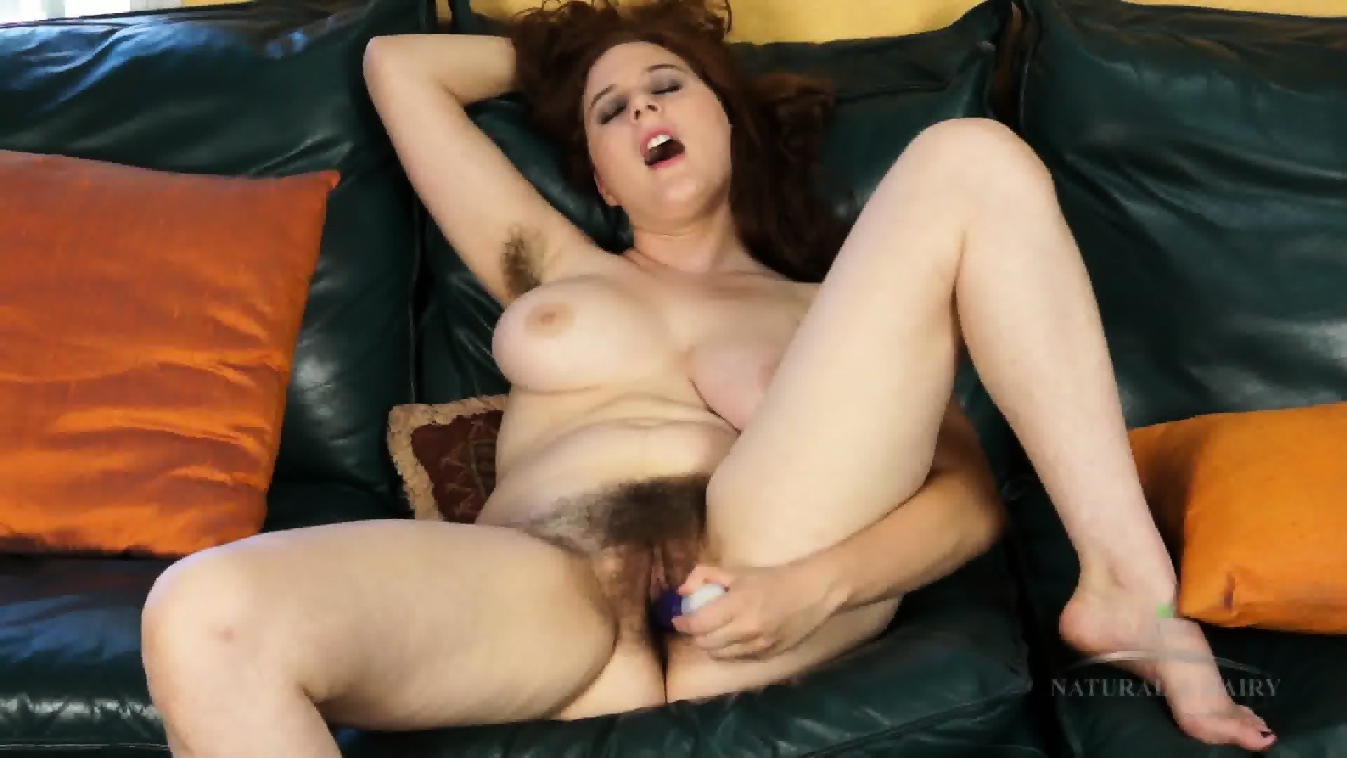 Mature Woman With Hairy Pussy Will Suck The Cock And Masturbate