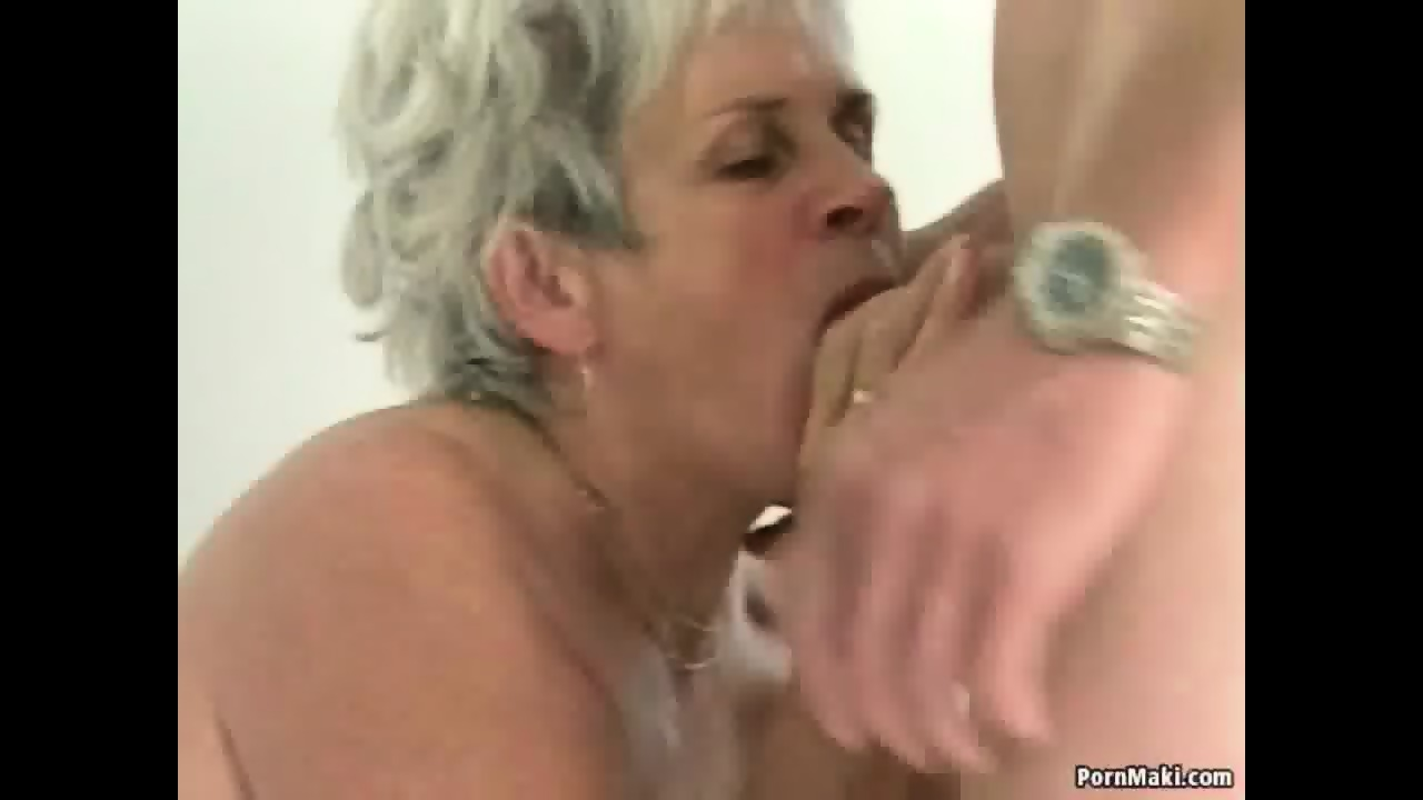 Hairy granny pussy filled with younger dick - scene 4