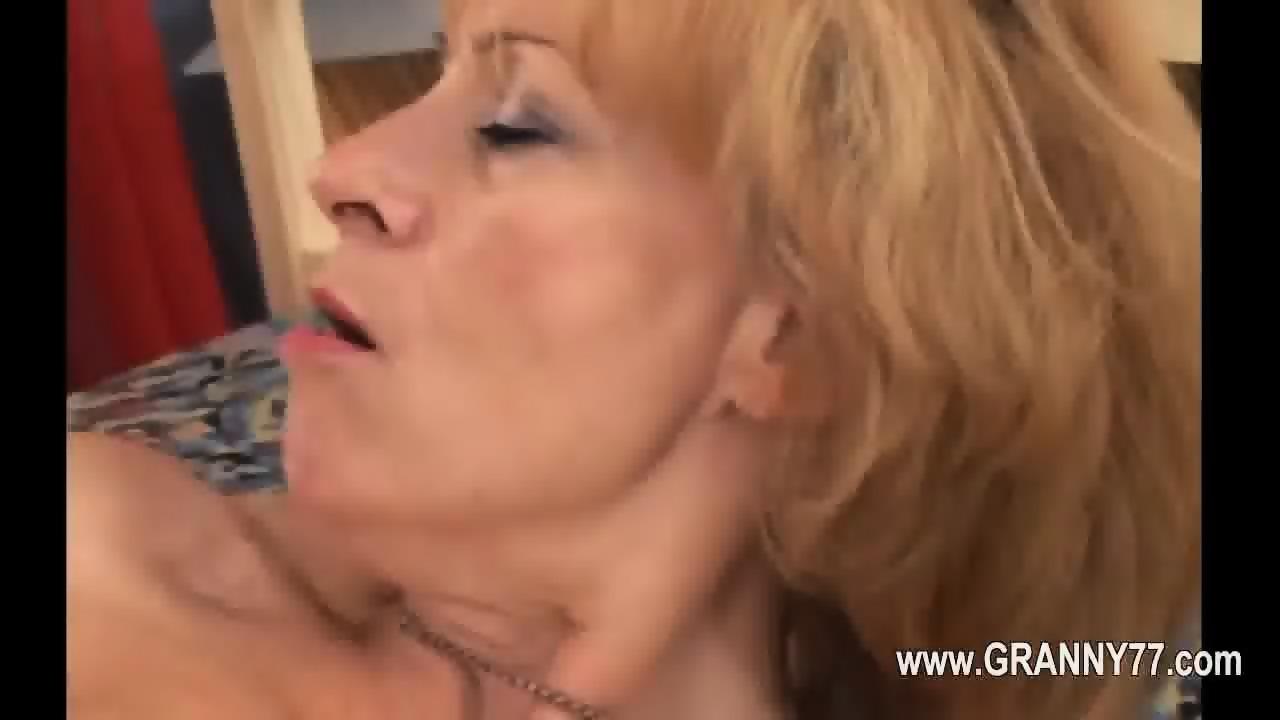 Moms friend shocked at huge dick
