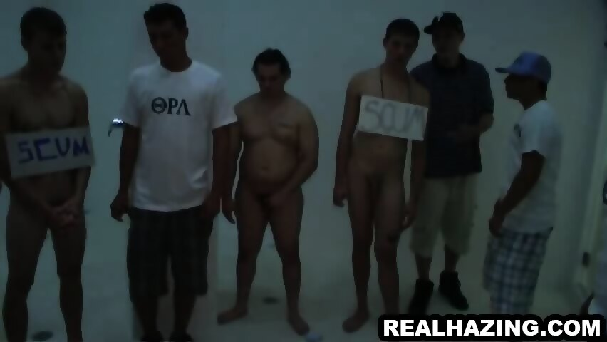 Frat boy hunk cums while getting fucked anally