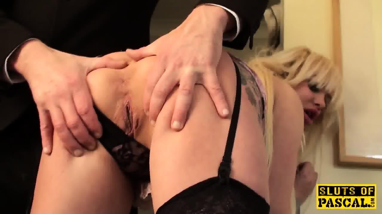 image Busty uk slut pussyfucked by uniformed cop