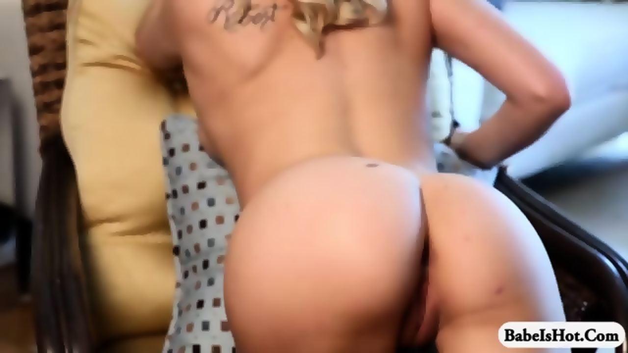 playmate naked on chair